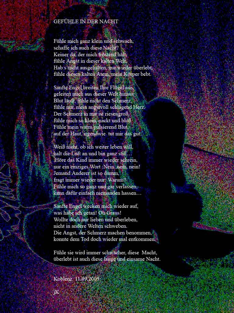 Inhalt gedichte gefühle in der nacht gefühle in der nacht